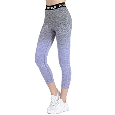 17f8d2303335 PLAYBOLD Seamless Girls Ombre Workout Pants Gym Running Yoga Sports ...