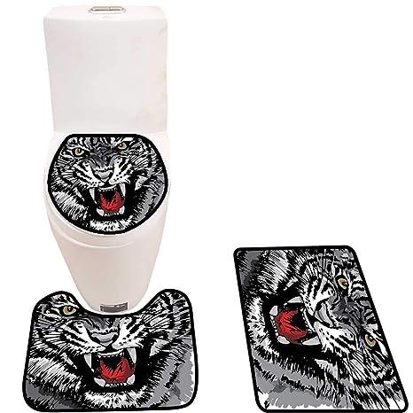 Amazon.com: Cojín antideslizante para inodoro, diseño de ...