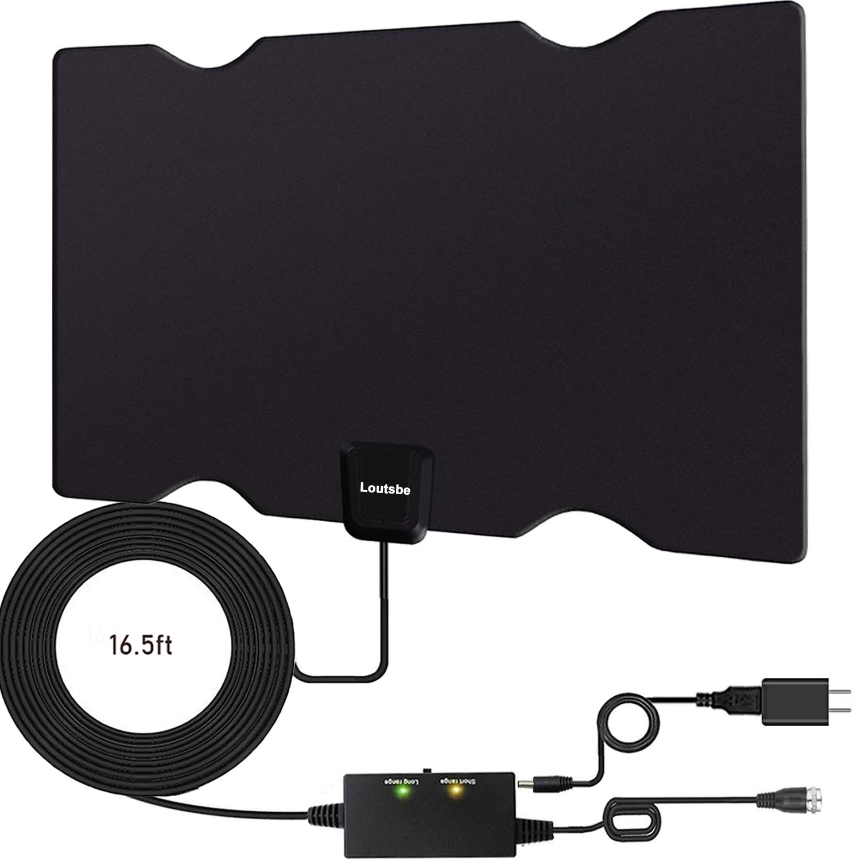 Loutsbe Amplified HD Digital TV Antenna,Indoor HDTV Digital Antenna 80 Mile,Support 4K 1080P
