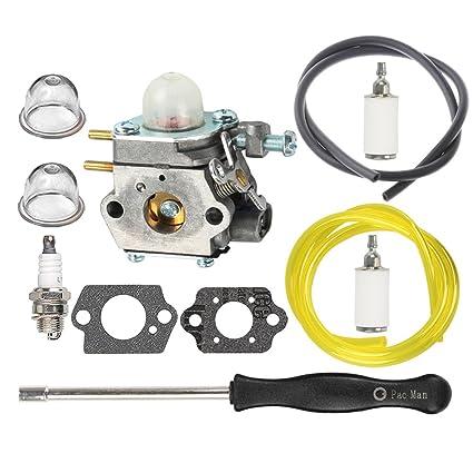HIPA 753-06190 Carburetor with Fuel Line Fuel Filter Spark Plug for MTD  Craftsman String Trimmer 316711023 316711390 316711020 316711021 316711022