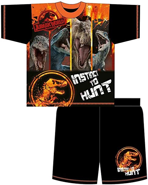 Jurassic World Park Older Boys Pyjamas Shorts T-Shirt Sets 4-5 to 9-10 Years