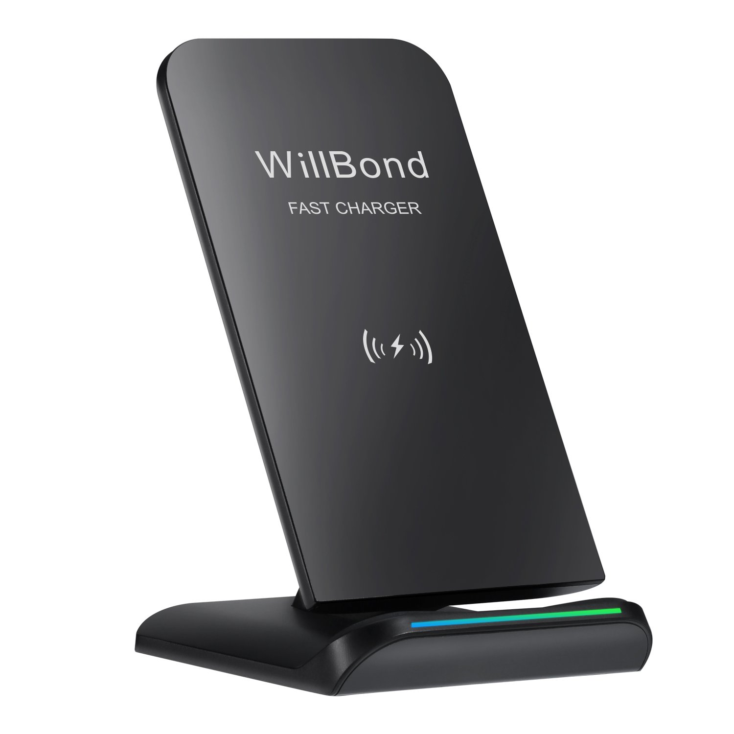 Amazon Willbond S9 S9 Fast Wireless Charger 2 Coils QI Wireless Charging Stand for iPhone X 8 8 Plus Galaxy S9 S9 Note 8 S8 S8 Plus S7