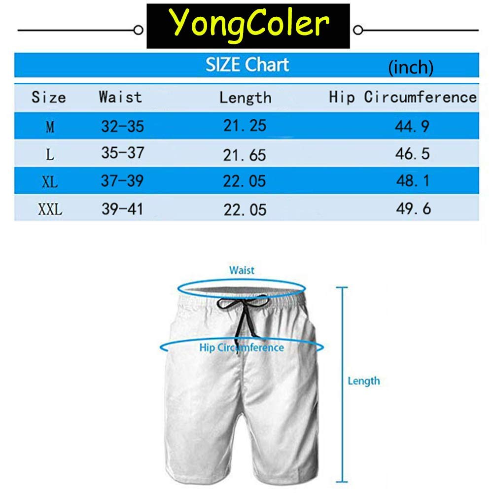 YongColer Summer Gift Men Shorts Swim Trunks Quick Dry Beach Surfing Board Shorts