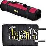 FASITE Trousse Sac à Outils 35 Pochettes Sacoches Porte-Outils Rouleau Poche de Rangement Multi-usages Pliable Portable Rouge