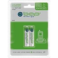 Pilhas Bap Energy, Pilha Recarregável, AAA, 650MAH, 1.2V, Pacote com 2, Profissional, Pequeno