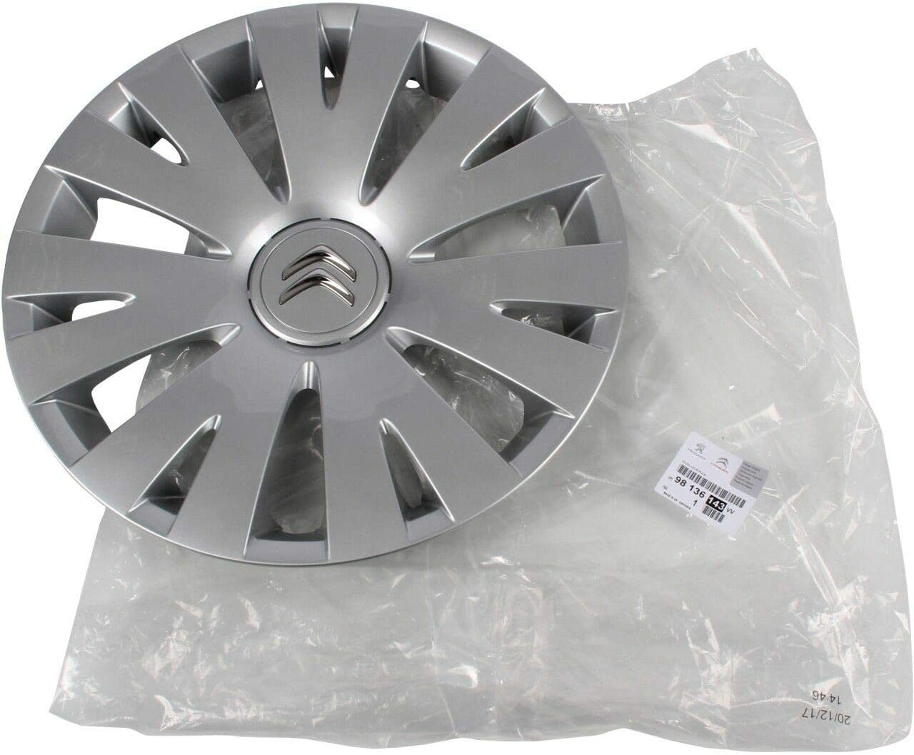 Original Citroen Radkappe Radblende Silber 15 Zoll Feroe 98136143vv Berlingo B9 Auto