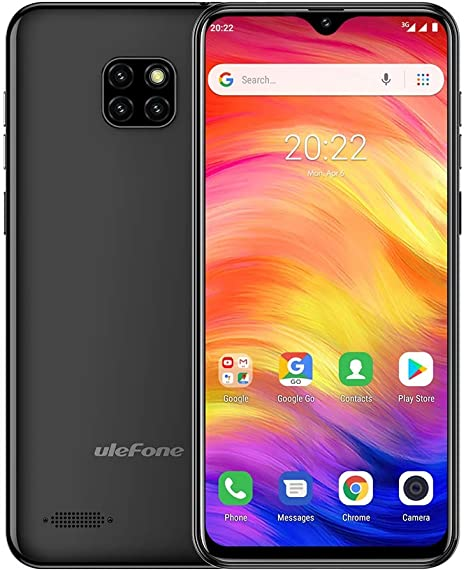 1GB+16GB Face ID Identification Triple Back Cameras Network: 3G ZhiYuan Ulefone Note 7 6.1 inch Android 8.1 GO MTK6580A Quad-core 32-bit up to 1.3GHz Color : Black Dual SIM