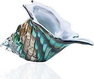 Crystalsuncatcher Hand Blown Seashell Art Glass Figurine Home Table Decor