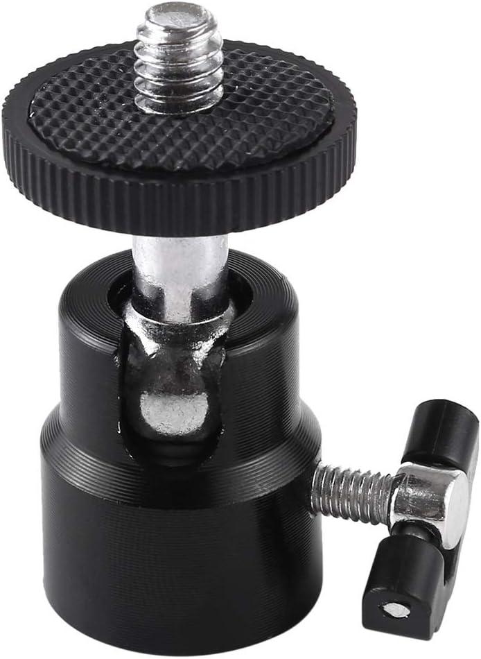 Asm 1//4 inch Screw Metal Tripod Ball Head Adapter with Lock YAM