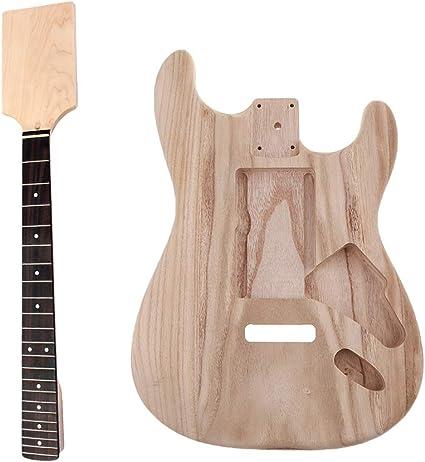 IPOTCH Cuerpo de Guitarra Inacabado de Paddle Cabeza para Guitarra ...