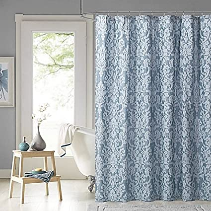 Salona Bay 72 Inch Shower Curtain In Blue Create A Modern And Inviting Look