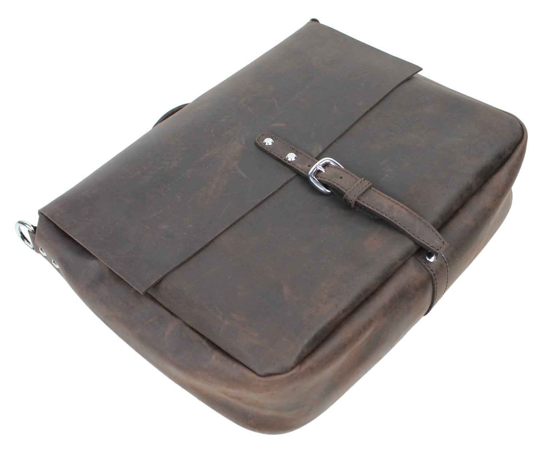 Vintage Full Grain Leather Full Grain Leather Casual Messenger Bag LM26.DB