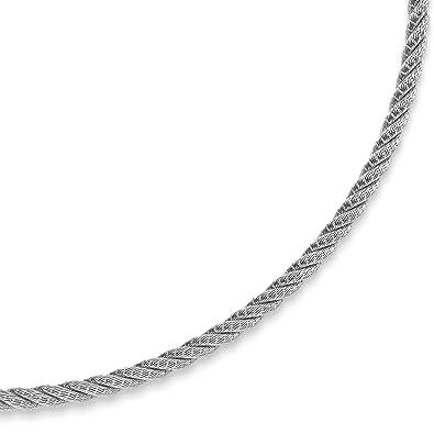 Collier en or blanc 585 de 4 mm avec collier de 42 cm  Amazon.fr  Bijoux 349db4bc692e