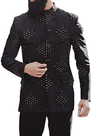 INMONARCH Embroidered Mandarin Collar Jodhpuri Suit for Mens JO1068
