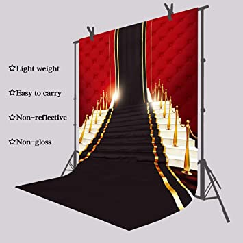 6.5x10ft Background Gold and Dark Carpet Photography Backdrop Wedding and Hot Event Photo Studio Props LHFU291