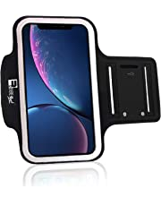 RevereSport Armband for iPhone XR with Face Recognition Access. Sports Arm Phone Case Holder for Running, Exercise, Gym Workouts & Outdoor Fitness