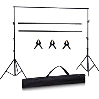 Backdrop Support, Ohuhu Photo Video Studio 1.9m(H) x 2.5m (W) /6 ft (H) x 8 ft (W) Adjustable Muslin Background System Stand (No Backdrop Included)