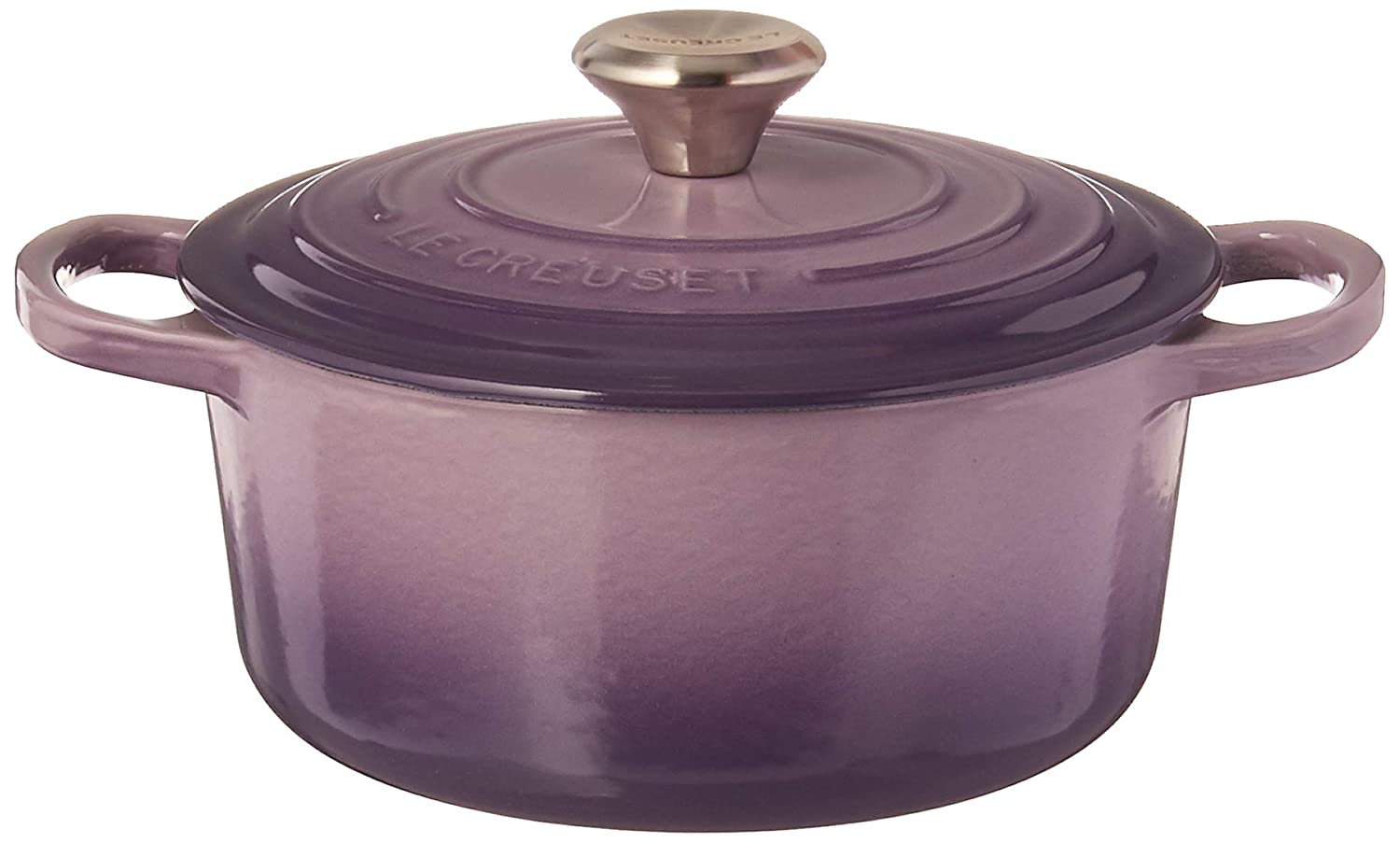 Le Creuset LS2501-18BPSS Signature Enameled Cast-Iron Round Dutch Oven, 2 quart, Provence