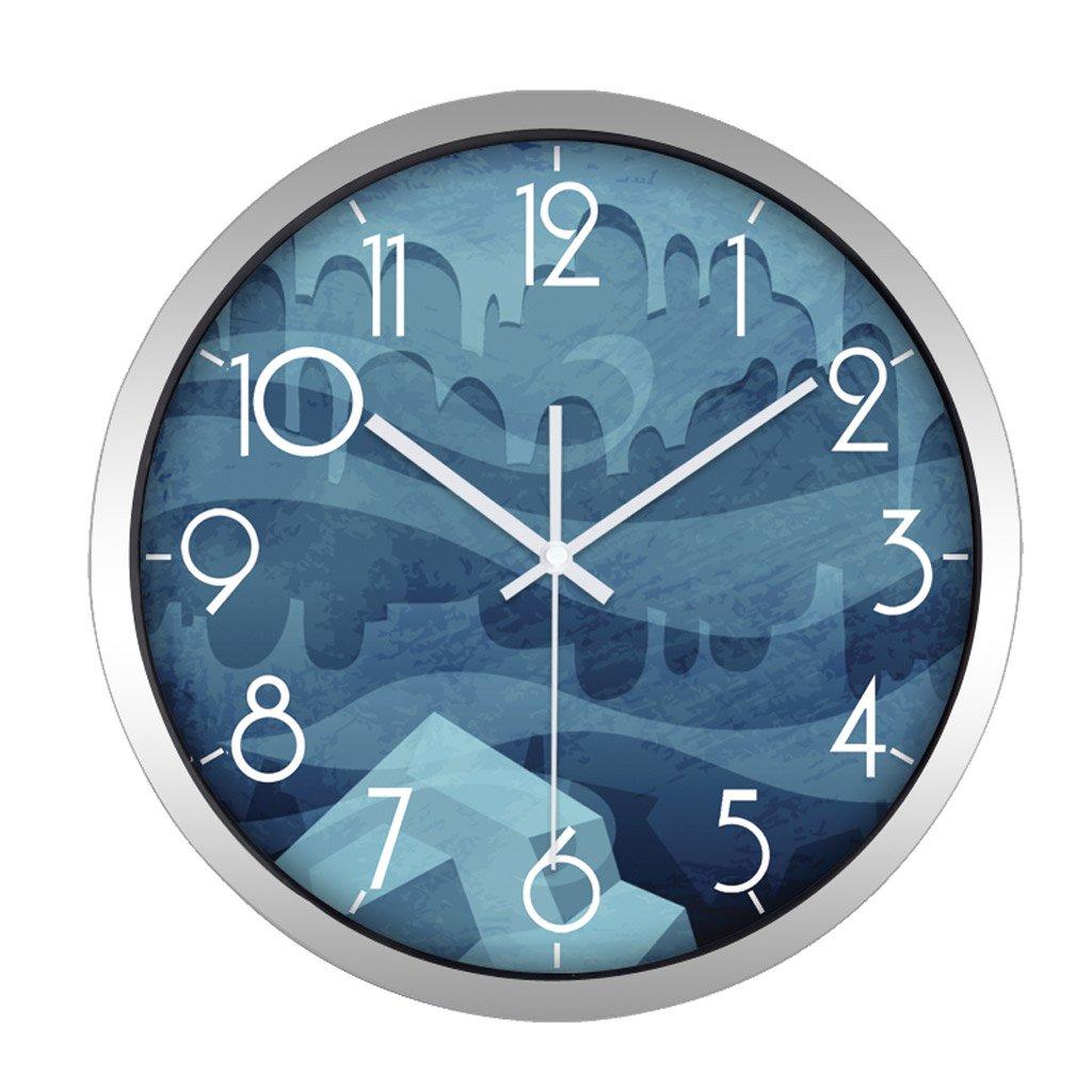 掛け時計 キッドブルーの壁の装飾のための漫画の壁時計ミュートのベッドルームリビングルームラブリーラウンド Rollsnownow (色 : シルバー しるば゜, サイズ さいず : 14 Inches) B07FP8F1BB 14 Inches シルバー しるば゜ シルバー しるば゜ 14 Inches