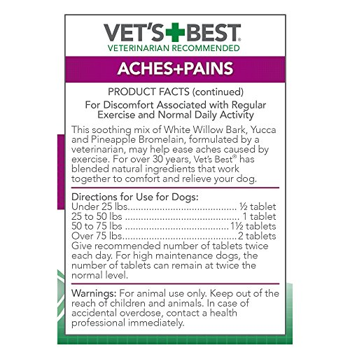Vet's Best Aspirin Free Aches and Pains Dog Supplements, Natural Formula … (2 Pack) by Vet's Best (Image #2)