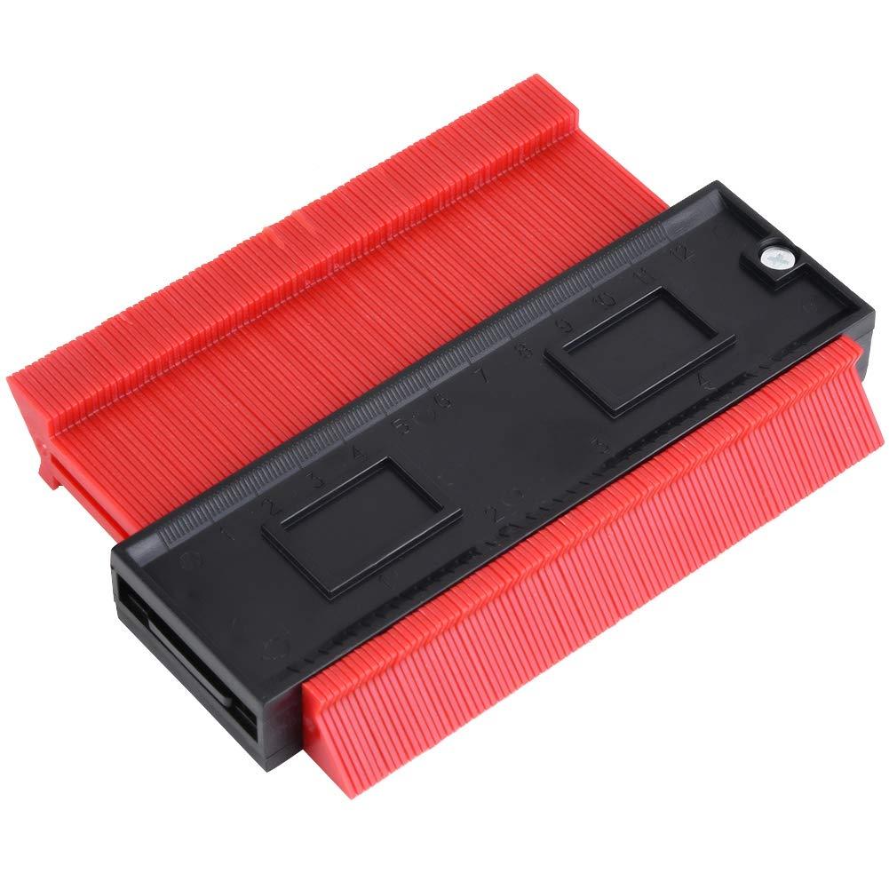 Jauge de duplication de contour ABS irr/égulier en plastique pour fa/çonner le bois Outil de travail