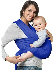 NewPI Fular Portabebés Elástico Portador de Bebé, Portador de Bebé Elastico para llevar al Bebé Ajustable Baby Carrier para Padres