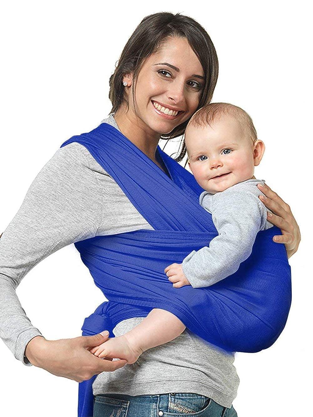 NewPI,, elástica de bebé Baby Wrap Carrier, Almohadillas Suaves ...