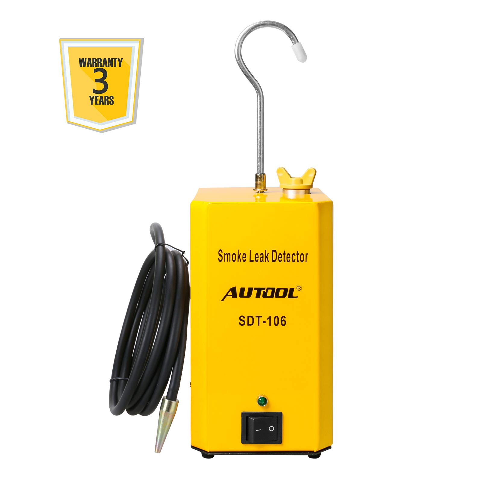 AUTOOL SDT-106 Vehicle EVAP System Leak Testing Machine Leak Detector, 12V Automotive Fuel Pipe System Leak Tester with EVAP Adapters for All Cars Motorcycles - 3 Years Warranty