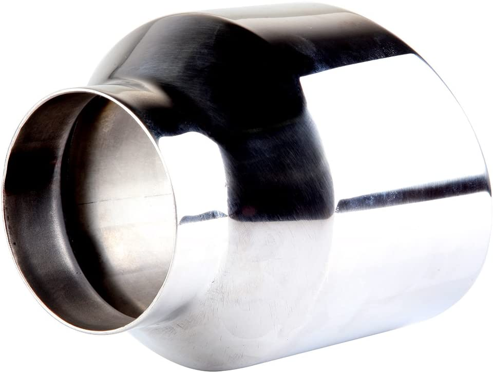 ECCPP Diesel Exhaust Tip 2.5 Inlet 4 Outlet Exhaust Tips 5 Long Mirror Polished Stainless Steel Exhaust Tailpipe