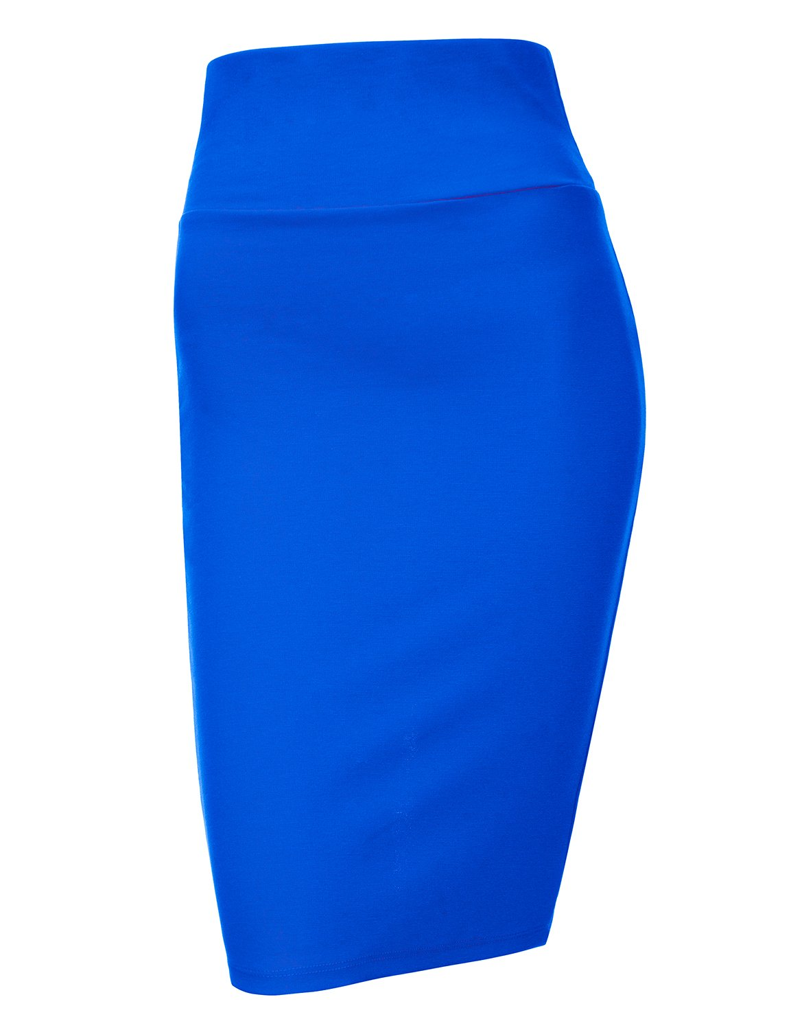 Regna X Love Coated Women's Wide Elastic Waist Band Slim Skirt Blue L
