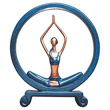 Amazon.com: Estatua de yoga para niña, escultura de yoga ...