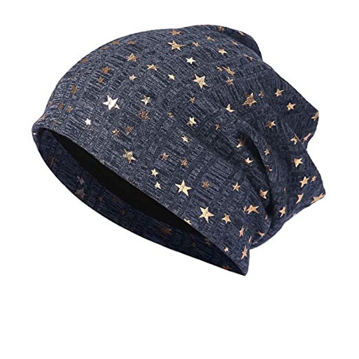 99faa2ccf Shybuy Fashion Men Women Shinny Star Printed Slouch Beanie Basic ...
