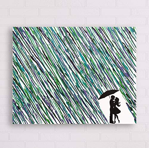 Melted Crayon Art Rain Painting 16quotx20quot
