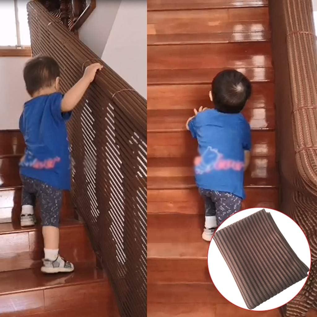子供の安全ネットホーム階段/バルコニー落下防止ネットフェンス保護ネットの赤ちゃんペットのおもちゃの安全性バリア、ブラウン/ブラック (Color : Black, Size : 0.8m*6m/2.6*19.7ft)