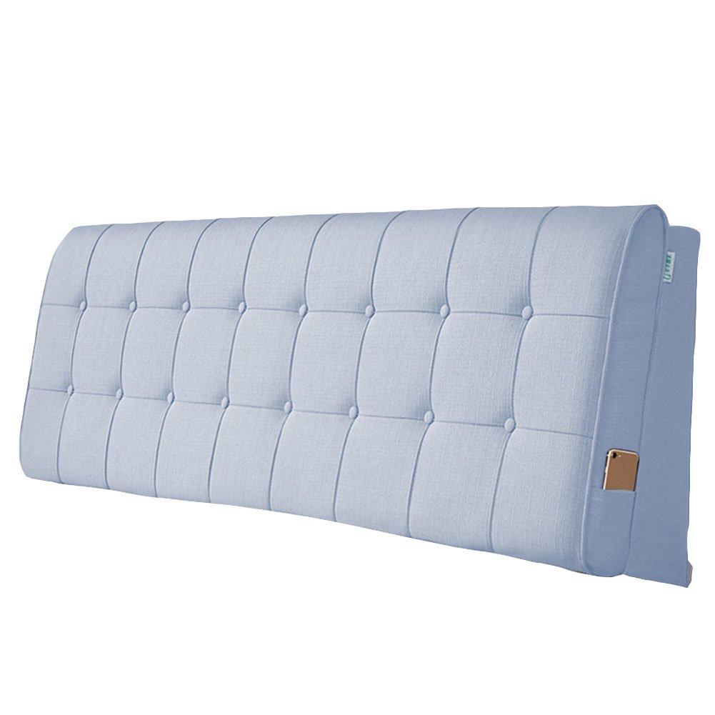 LIANGLIANG クッションベッドの背もたれ ダブルサイズの人は余分な通気性と汗を吸収する綿、5サイズ13色 (色 : Grey blue, サイズ さいず : 150x60x10cm) B07FRH3NF8 150x60x10cm|Grey blue Grey blue 150x60x10cm