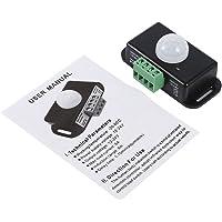 Instelbare beveiliging bewegingsmelder schakelaar, 12 V / 24 V plastic kleine DC bewegingssensor lichtschakelaar, voor…