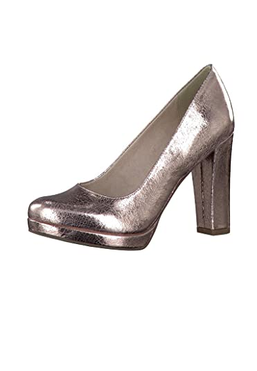 Tamaris Plateau Pumps Rose Gold Glamour High-Heel mit Touch-It Sohle 1-22409-28 516 Rose Gold