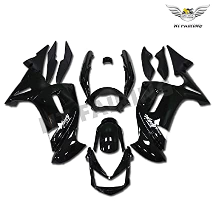 Amazon.com: NT FAIRING Glossy Black Fairing Fit for KAWASAKI ...