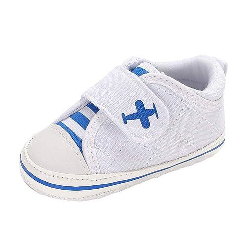 Zapatos De Lona para NiñOs, Amphia Zapatos De Lona para BebéS Zapatilla Antideslizante Pegatina MáGica