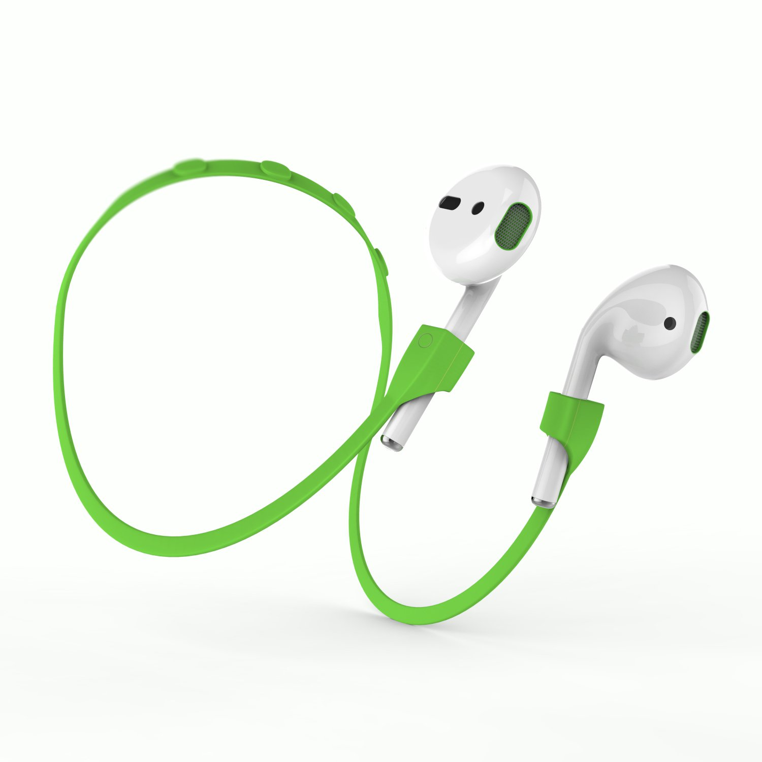 Airpods Strap, MeanLove Silicone Anti-lost Wire Cable Connector with Magnetotherapy for Airpods (Green)