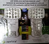Capstone LED Wireless Motion Sensor Light, 2 Pack, White