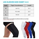 HuiYee Sports Compression UV Long Leg Sleeves for