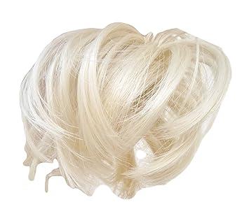 Amazon hair extension scrunchie platinum blonde bun up do hair extension scrunchie platinum blonde bun up do down do spiky twister elas pmusecretfo Image collections