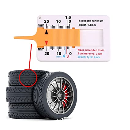 Sedeta Remolque de coches Van Roda profundidad del neumático Gauge Herramientas medida del neumático de piezas