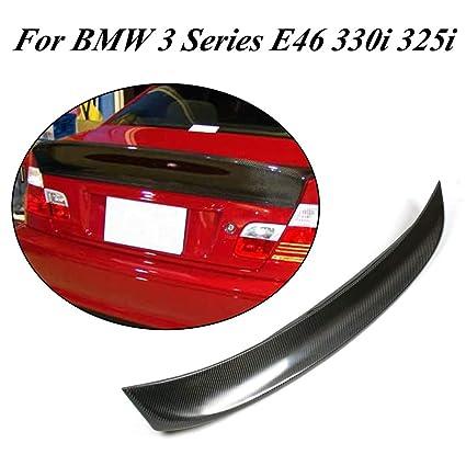 9283ba89bfa Amazon.com  Jcsportline fits BMW 3 Series E46 323i 325i 330i Sedan Carbon  Fiber Rear Trunk Spoiler Lip 1999-2006  Automotive