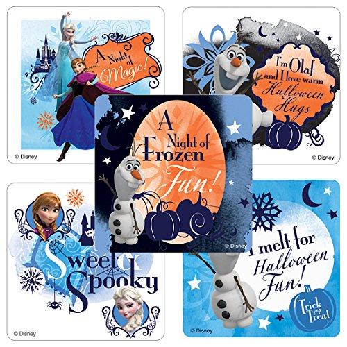 Frozen: Halloween Stickers - Prizes and Giveaways - 100 Per Pack (Frozen Halloween Treats)