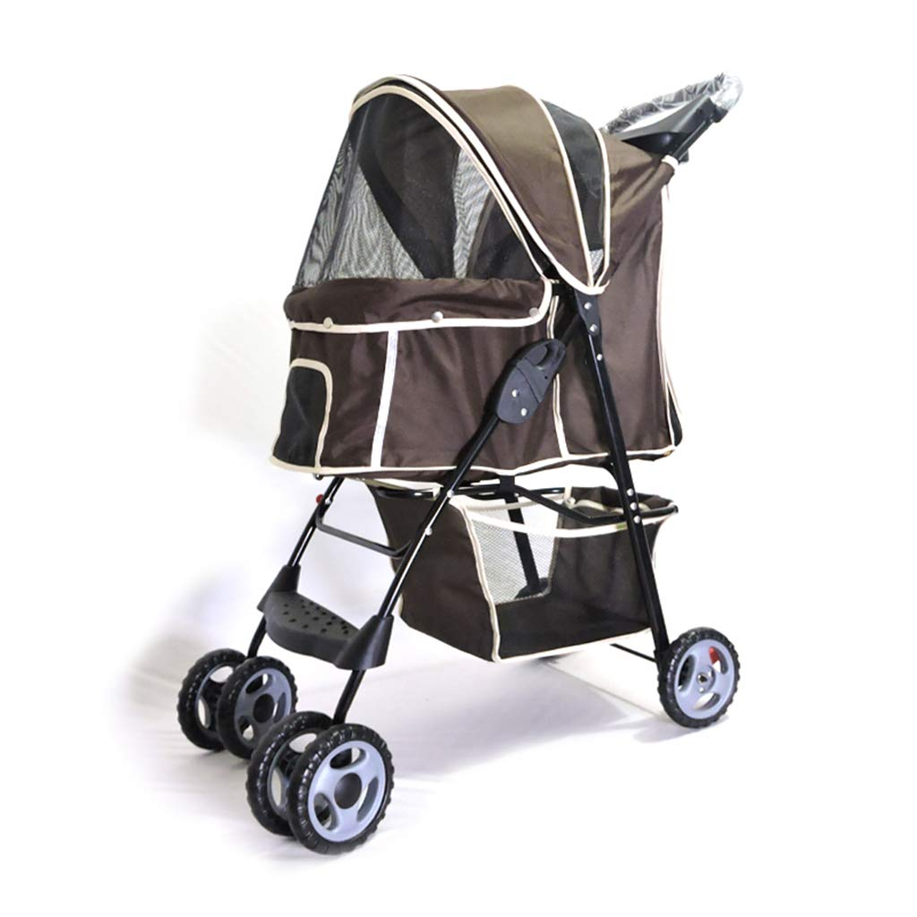 C 4 Wheel Foldable Pet Stroller for Dogs and Cats
