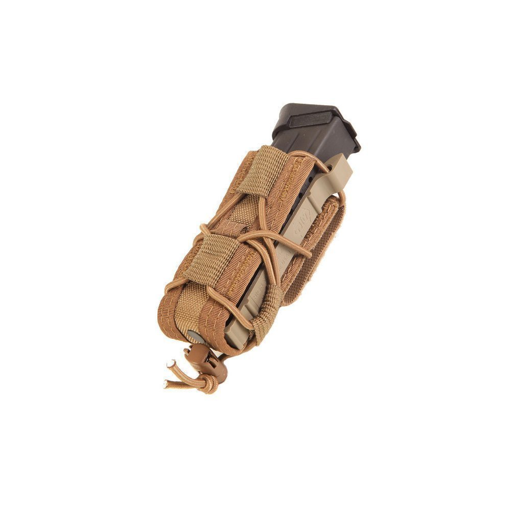 HSGI Belt Mount Pistol TACO Single Magazine MAG Pouch - Coyote Brown, Two Pack by High Speed Gear
