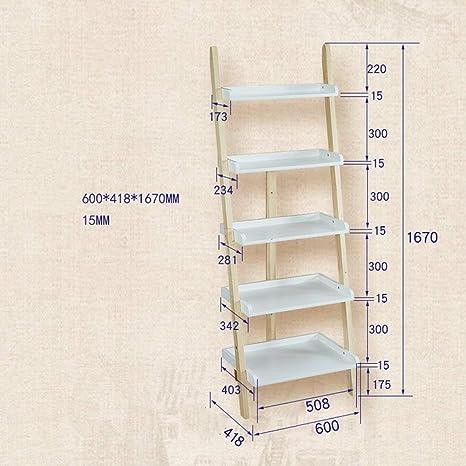SED Multifunción Pequeña Mesa Hogar 5 estantes Escalera Inclinada Estantería Librería de Cinco Niveles Estante de Almacenamiento en la Pared Unidad de Dormitorio Dormitorio Mesa de Estudio Simple,Col: Amazon.es: Deportes y aire
