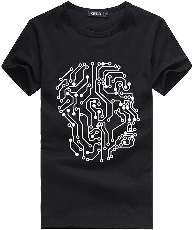 VPASS Camiseta para Hombres y Mujeres, Manga Corta Impresión ...